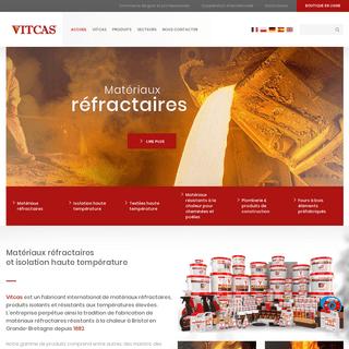Matériaux réfractaires et isolation haute température - Large gamme de produits - VITCAS