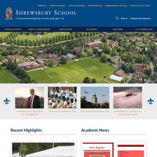 Shrewsbury School - Home