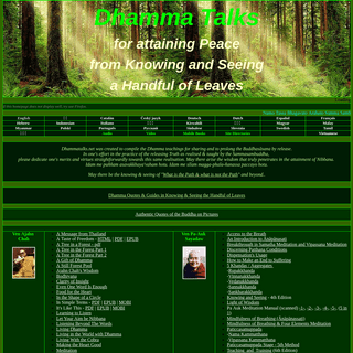 ArchiveBay.com - dhammatalks.net - Dhamma Talks (((((0))))) Attaining PEACE with KNOWING & SEEING a Handful of Leaves