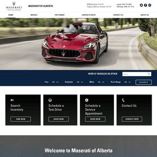 ArchiveBay.com - maseratiofalberta.com - Maserati of Alberta- New & Used Maserati Dealership - Calgary, AB.