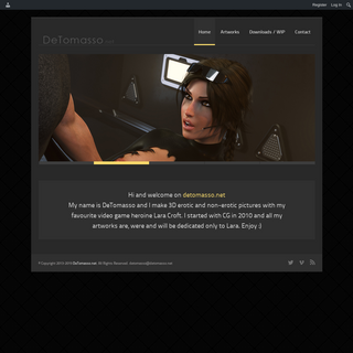 Lara Croft by DeTomasso