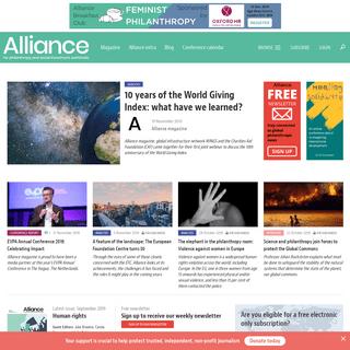 Home - Alliance magazine