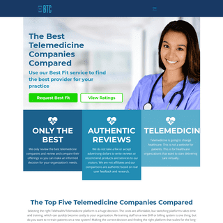 Ratings & Best Fit Tool For Telemedicine, Telehealth, and Patient Intake - Best Telemedicine