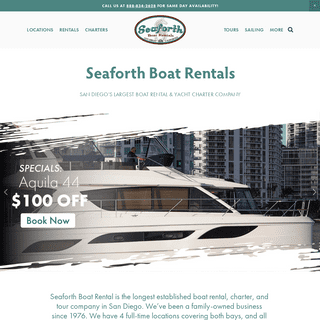 Seaforth Boat Rentals - Powerboats, Sailboats, Yachts, & Jetskis