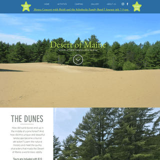 ArchiveBay.com - desertofmaine.com - Desert of Maine - Tent Camping - Desert Tours - Things to See Portland