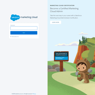 Login - Salesforce Marketing Cloud