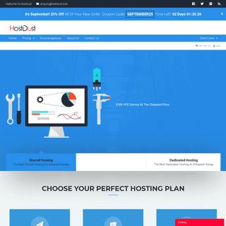 HostDust - Affordable Shared & Vps Hosting Portal