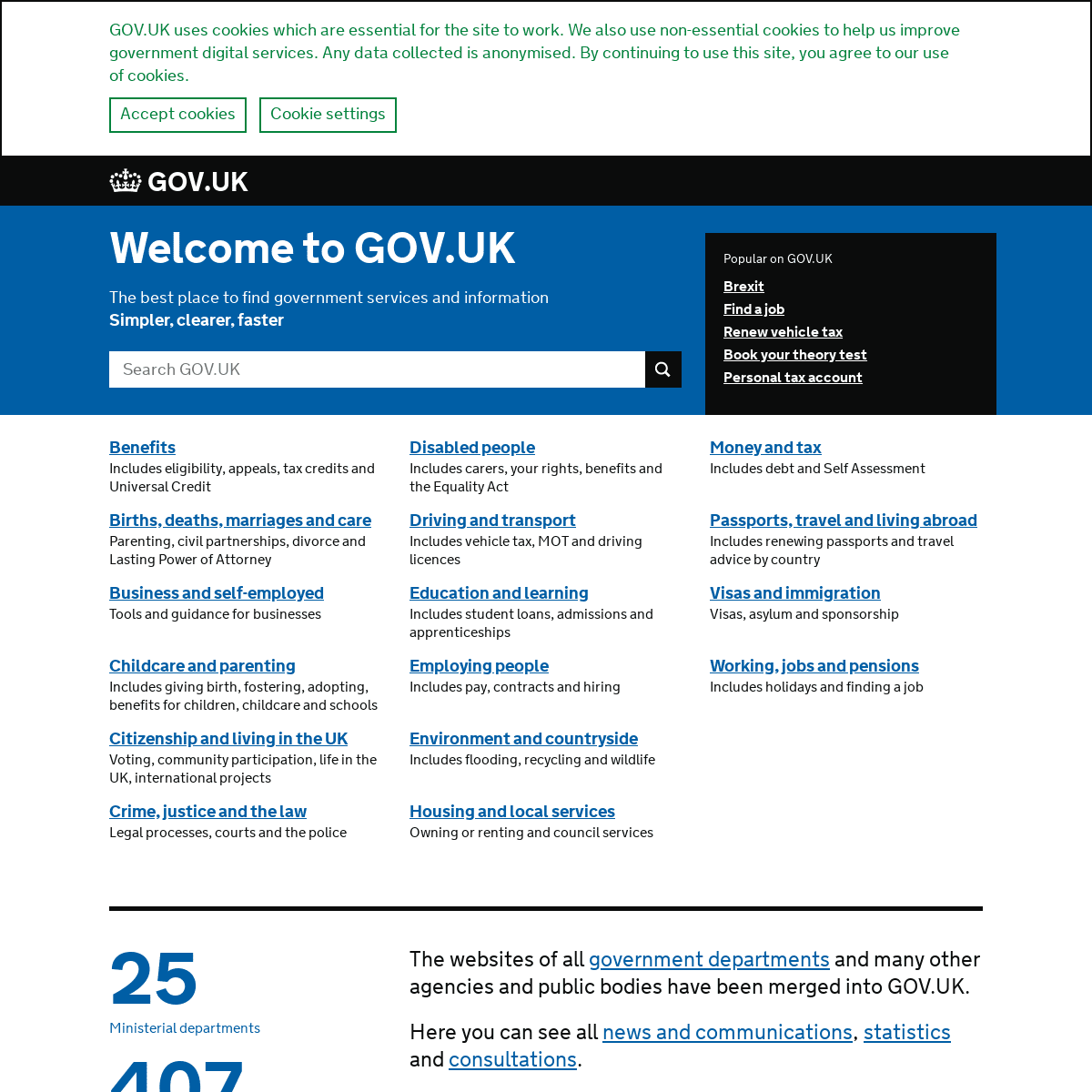 Welcome to GOV.UK