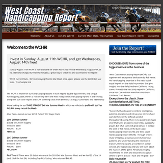 ArchiveBay.com - westcoasthorseracing.com - Welcome to the WCHR! - West Coast Horseracing