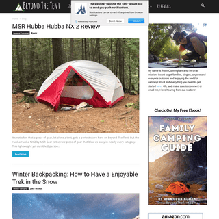Beyond The Tent - Family Camping Adventures