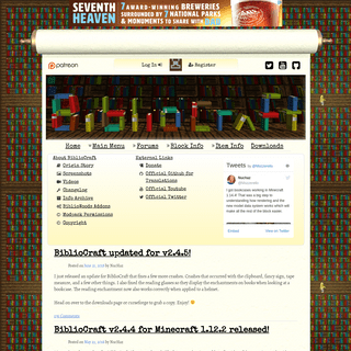 BiblioCraft - Official Website