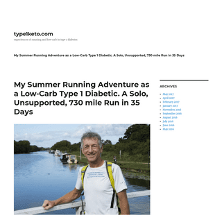 type1keto.com – experiences of running and low carb in type 1 diabetes