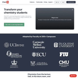 Chem101- Transform Your Chemistry Students with Active Learning