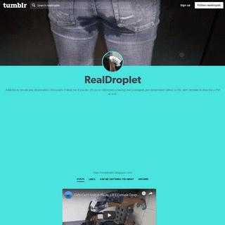 RealDroplet