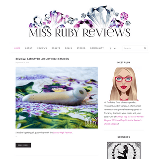 Miss Ruby Reviews - Finding Gems