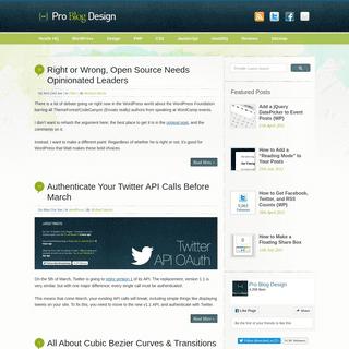 Pro Blog Design - How To Design a Better Blog