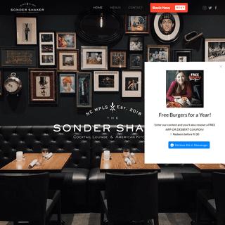 Sonder Shaker – Cocktail Lounge & American Kitchen