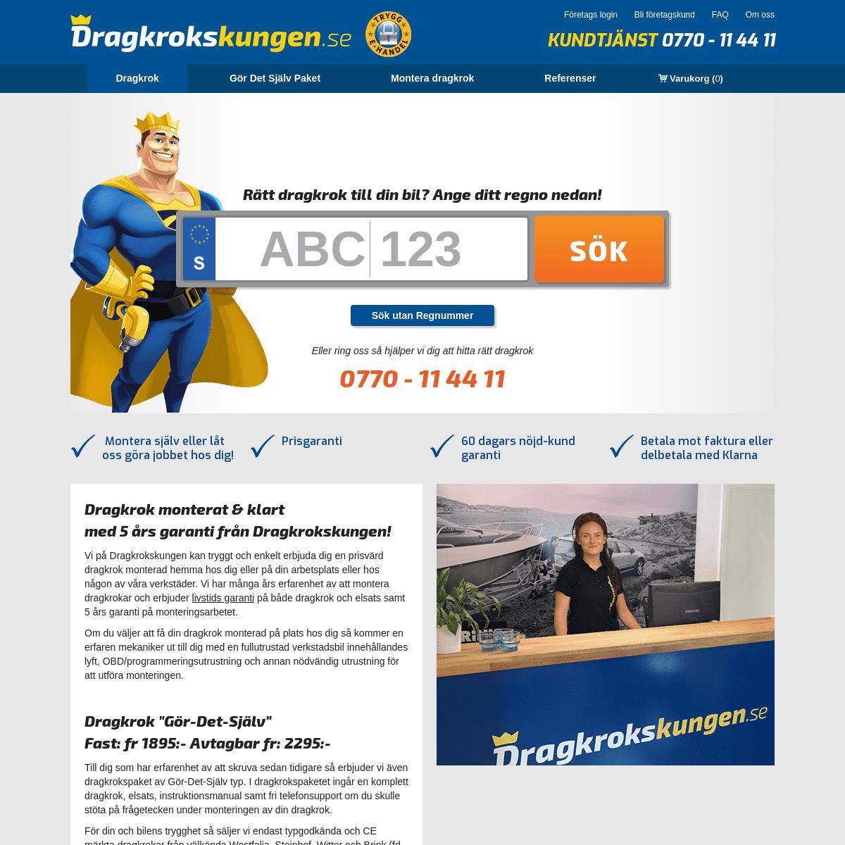 ArchiveBay.com - dragkrokskungen.se - Dragkrok inkl elsats fr 1.795-- Montering av dragkrokar fr 2.495--