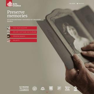 ArchiveBay.com - actacroatica.com - Acta Croatica - Home
