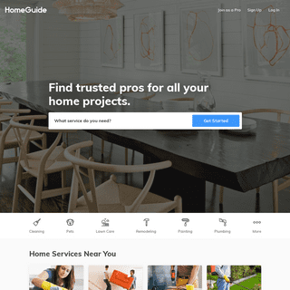 Find Trusted Painters, Plumbers, Maids and more! -- HomeGuide