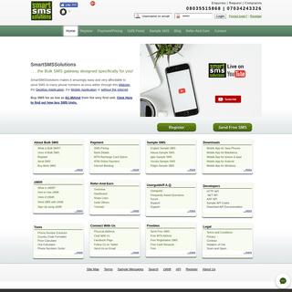 Send Free Bulk SMS to Nigeria Networks -MTN, Airtel, Etisalat, Glo, Starcomms, Visafone - Online. Cheapest Bulk SMS Route - Smar