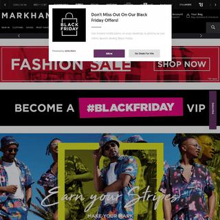 ArchiveBay.com - markham.co.za - Mens Clothing, Denim, Shoes and Fashion Online - Markham