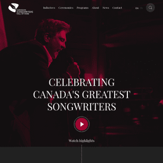 Home - Canadian Songwriters Hall of Fame