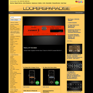 ArchiveBay.com - loopersparadise.de - Effektgeräte Saarbrücken Guitar-Racks Saarland Looper-Switcher