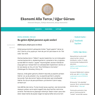 Ekonomi Alla Turca - Uğur Gürses – Ekonomi dünyası, Türkiye ekonomisi, dünya ekonomisi
