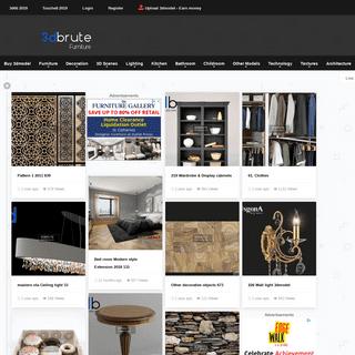 3dbrute - 3dmodel furniture and decor, 3d max blocks