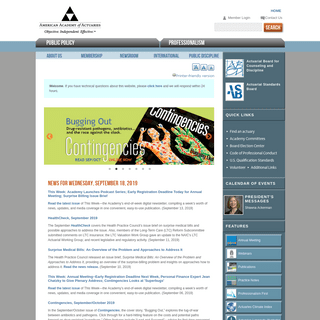 Homepage - American Academy of Actuaries