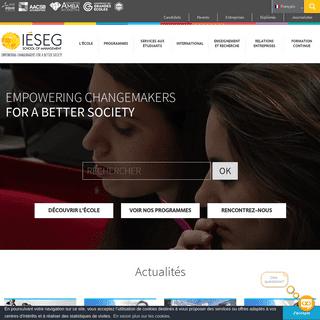 IÉSEG - Ecole de Commerce à Paris et Lille - Bachelor, Masters, MSc