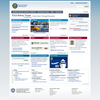 Safer Skies Through Education - FAA - FAASTeam - FAASafety.gov
