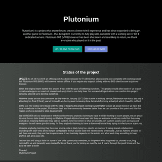 A complete backup of plutonium.pw