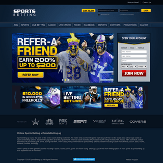 Online Sports Betting & Live Betting Odds at SportsBetting.ag