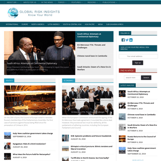 Global Risk Insights - Political Risk for the 21st century