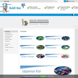 G&D Koi, de webshop op vijvergebied! De internetstunter van het land!