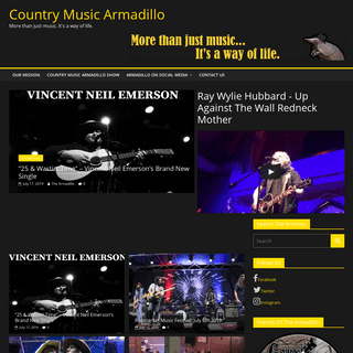 Country Music Armadillo – More than just music. It's a way of life.