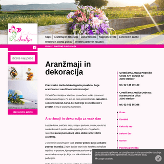 ArchiveBay.com - cvetlicarna-aralija.com - Aranžmaji in dekoracija