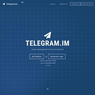 Instant Messaging Telegram Button Widget
