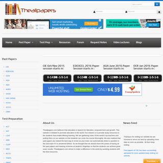 TheAllPapers -Largest Database of Past Papers Ever-