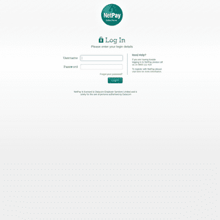 NetPay - Log In