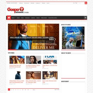 Gospel Music and Christian Entertainment site - Gospotainment.com