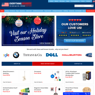 Promotional Products, Branded Items and Printed Gifts for your business - Everything Branded USA