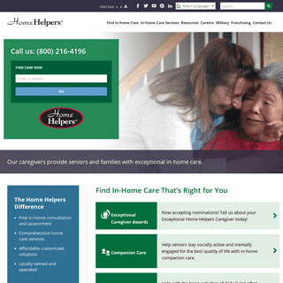In-Home Health Care and Home Care Assessment and Services for Seniors and Persons with Disabilities - Home Helpers