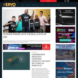 Servo Magazine - Covering the world of personal robotics - Servo Magazine