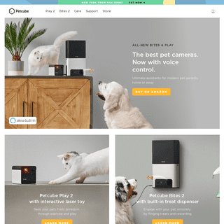 Petcube - The Smartest Pet Cameras For Cats & Dogs. Alexa built-in