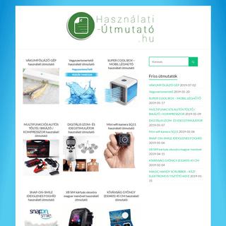 Használati útmutató - Részletes útmutatók több ezer termékhez