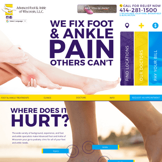 Milwaukee Podiatrists - Foot & Ankle Pain Relief & Treatment - Orthopedic Surgery - Foot and Ankle Surgery - Specialists in Foot