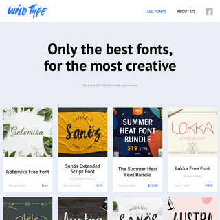 All fonts - WILDTYPE